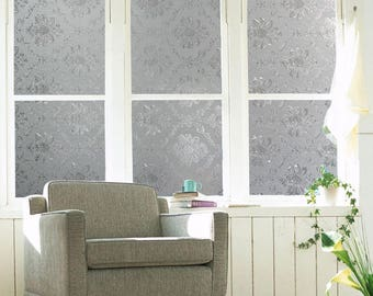 Antique Flowers Privacy Window Film