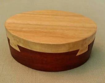 Handmade Poplar and Mahogany Jewelry Box