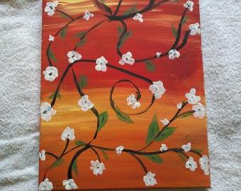 Flower vines Orange