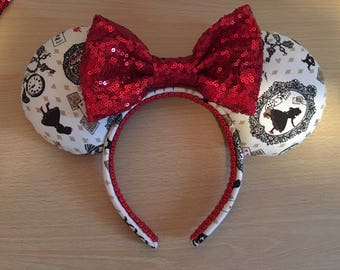 Alice in Wonderland inspired Mickey/Minnie/Mouse Ears