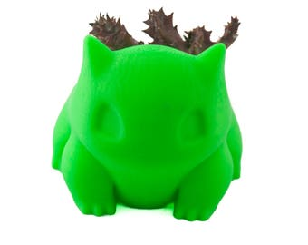 Bulbasaur planter, pokemon, bulbasaur, pokemon planter, planter, succulent planter, bulbasaur pot, pokemon go, 3d printed, indoor planter