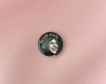 "sylvia plath 1"" round pin"
