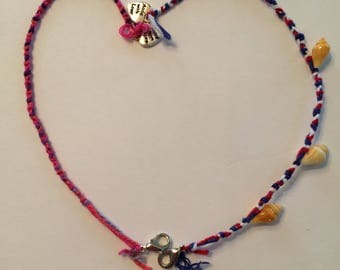 Pink, Red, and Yellow Friendship Bracelets