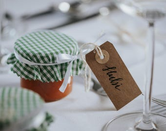 Individuelle Handgeschriebene Tischkarten Hochzeit Wedding Kraftpapier Wedding Placecards