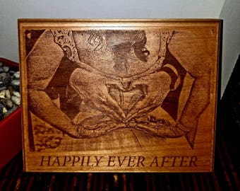 Custom Personalized wedding gift birthday gift valentine gift engraved wood plaque