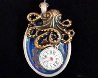 Octopuses Treasure Steampunk pendant