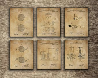 Tesla Set of 6 Vintage Prints, Tesla Patent Print, Tesla Poster, Tesla Printable, Tesla Set of 6 Inventions - INSTANT DOWNLOAD -