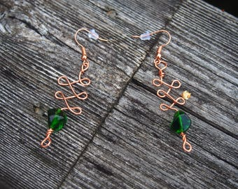 Celtic Inspired Copper Wire Earrings