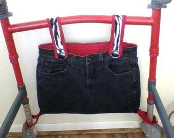 black and red walker bag