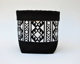Azteca fabric storage basket