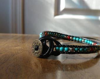 Turquoise and Jasper double wrap