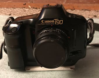 Canon T90 with Canon 50mm 1.8 FD Lens!