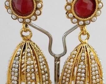 Indian Earrings, Bollywood Earrings, Drop Earrings, Chandelier Earrings, Gold Earrings, Pearl Earrings, Ruby Earrings, Indian Jewellery