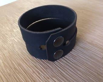 Black Leather Wrist Cuffs- Wrist Restraints