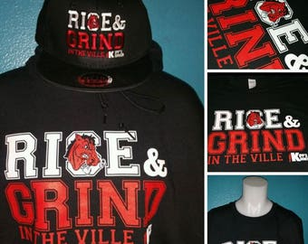 Big Red Rise and Grind in The Ville Tshirt/ Unsiex / Womens/Ohio/ Steubenville