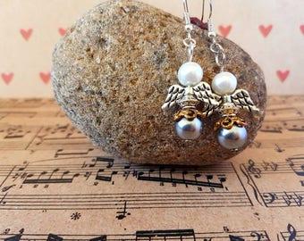 Angel earrings-silver