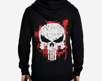 Sweatshirt Hoodie Punisher different different sizes plus size sweatshirt