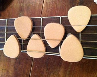 6 Pack Leather Guitar Picks