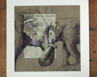 ELEPHANT.09. 30X30cm