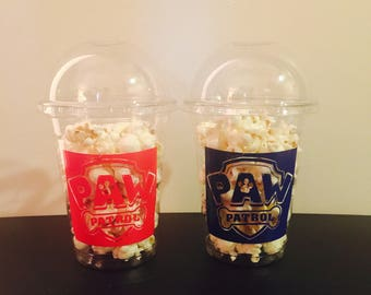 Paw Patrol Popcorn Cups Birthday Cups Party Cups