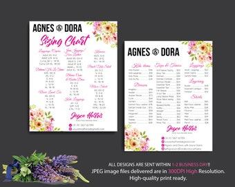Both Card, Agnes Dora Price List, Agnes Dora Size Chart, Custom Agnes Dora Cards, Digital Agnes and Dora, Printable File AG15