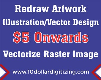 Illustration,Redraw artwork,Vectorize Blur Images, Vectorize Raster Image, Raster to Vector, Redraw Raster to Vector
