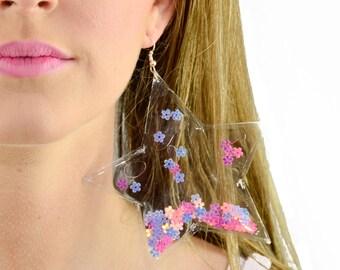 Liquid Glitter Earrings - Stars - Flower Power