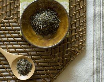 Certified Organic Jasmine Green Loose Leaf Tea // 4 ounces