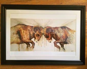 Antebellum (Rams) Framed Print