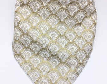 Golden Scales Bandana Drool Bib Baby Bib Baby Shower Gift Bibdana Toddler Bib Teething Baby Baby Girl  Baby Boy
