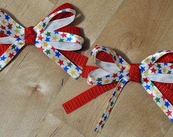"3"" Primary Stars Pigtail Bow Set"