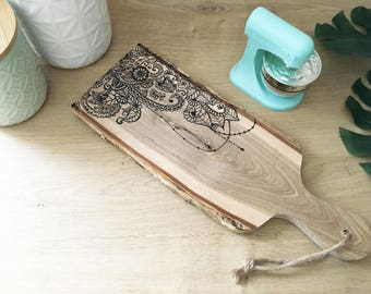 Bohemian mandala cutting board