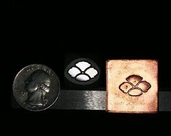 Art Deco Pansy Metal Hand Stamp