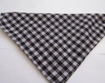 Black & White check | Dog bandana