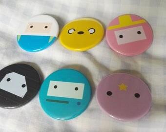 6 Simplistic Adventure Time Badges