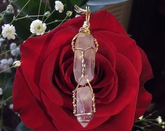 Double Quartz Crystal Necklace