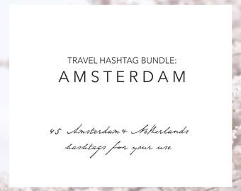 Amsterdam Netherlands Hashtags | Instagram Travel Hashtags | Instagram Marketing | Travel Blogger | Hashtag Research | Grow Your Instagram