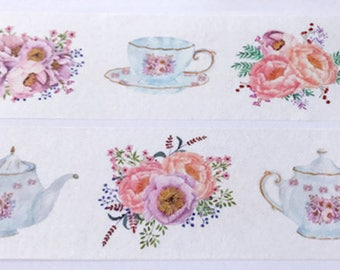 Floral Washi Tape Watercolor Washi Paper