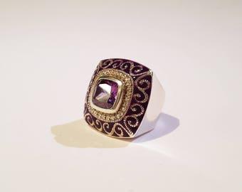 Amethyst & 925 Silver Ring