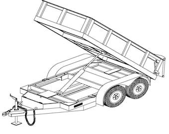 10′ Hydraulic Dump Trailer Plans Blueprints – Model 10HD  | Master Plans & Designs