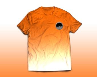 Modern Summer Bright Orange Dip Dye Opal Clothing Shirt