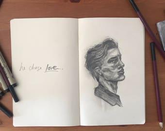 Profile Boy Sketch