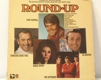 1969 Round-Up Vinyl Record Vtg. Good Condition