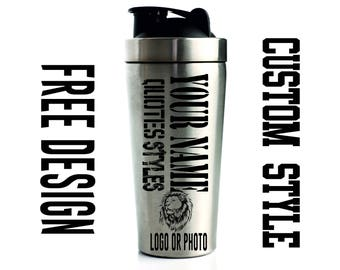 Personalized Protein Shaker bottle, Custom name water bottle, Gym Bottle, Sports Water Bottle, Workout Cup, Custom Shaker Cup, Sports Bottle