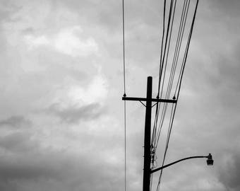 Wires in the Sky 7x10 digital download