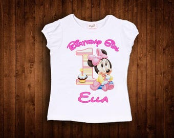 inspired by pink baby minnie mouse birthday shirt