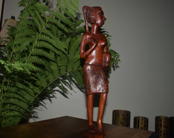 Hand Carved African Woman.