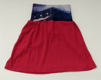 Starry Mountain Magenta Grow-With-Me Skirt, 18 months - 3T