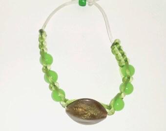 macrame bracelet adjustable, natural Pearl