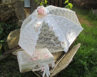 Umbrella lace Shabby Chic flowers